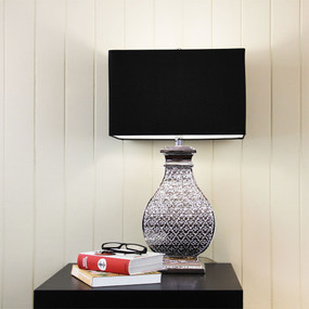 Table Lamp - 60W IP20 E27 680mm Chrome and Black