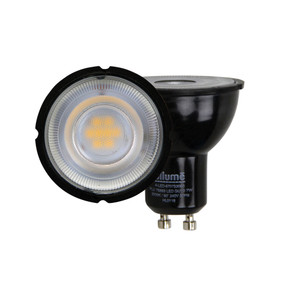 GU10 LED Globe - 7W 590lm 5000K 55mm Black Non-Dimmable