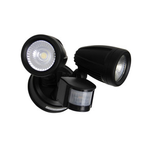 Flood Light With Sensor - 26W 2200lm IP54 4000K 280mm Black