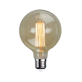 Vintage Filament Globe - G125 25W E27 125mm Amber Non-Dimmable