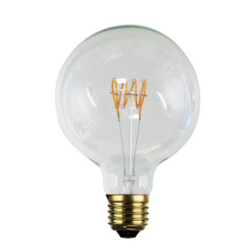 E27 LED Filament Globe - 5W 300lm E27 2200K 170mm Clear Dimmable