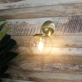 Indoor Wall Light - 40W IP20 E14 210mm Brushed Brass
