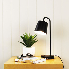 Desk Lamp - 18W E14 460mm USB Black