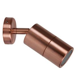 Wall Spotlight - Adjustable 35W GU10 IP65 180mm Copper