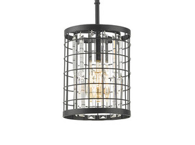 Pendant Light - 42W E27 230mm Faux Crystals Black