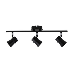 Ceiling Spotlight - 3 Adjustable 105W IP20 GU10 500mm Black
