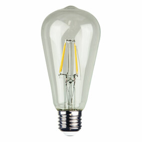 E27 LED Filament Globe - 4W 400lm E27 2700K Clear Dimmable