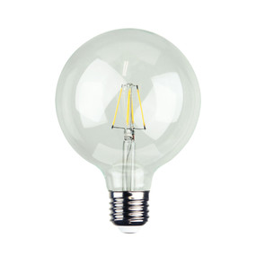 E27 LED Filament Globe - 4W 400lm E27 2700K 140mm Clear Dimmable