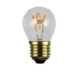 E27 LED Filament Globe - 3W 180lm E27 2200K 70mm Clear Dimmable