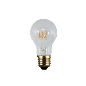 E27 LED Filament Globe - 3W 190lm E27 2200K 100mm Clear Dimmable