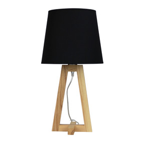 Table Lamp - 42W E27 540mm Timber and Black