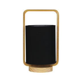 Table Lamp - 42W E27 325mm Timber and Black