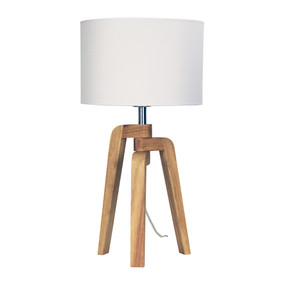 Table Lamp - 42W E27 540mm Timber and White