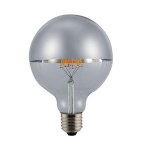 E27 LED Filament Globe - 6W 120lm E27 2700K 140mm Chrome Non-Dimmable