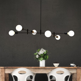 Pendant Light - 252W E27 1200mm Black