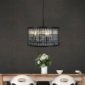 Pendant Light - 126W E27 280mm Black