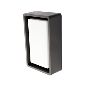 Marine Grade Vandal Resistant Wall or Ceiling Light - 10W 700lm IP65 IK10 4000K 240mm Graphite