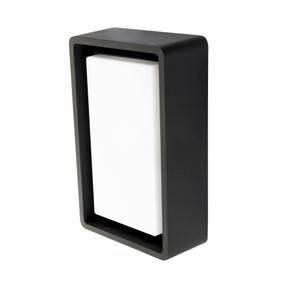 Marine Grade Vandal Resistant Wall or Ceiling Light - 10W 700lm IP65 4000K 240mm Black