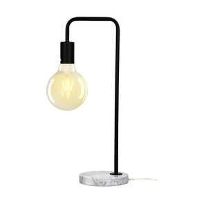 Table Lamp - 42W E27 500mm Marble with Matte Black