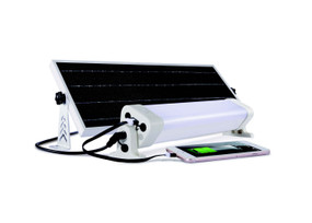 Solar Batten Light Motion Sensor Remote Control - 1200lm IP65 6000K 360mm Commercial Strength