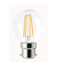 B22 LED Filament Globe - 4W 400lm IP20 2700K 73mm Clear Dimmable