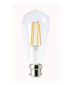 B22 LED Filament Globe - 8W 800lm IP20 6000K 148mm Clear Dimmable
