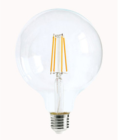 E27 LED Filament Globe - 8W 800lm IP20 6000K 170mm Clear Dimmable