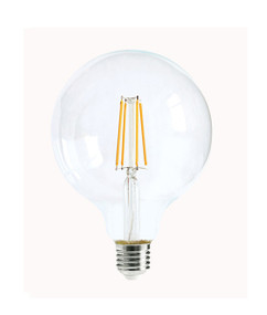 E27 LED Filament Globe - 6W 600lm IP20 6000K 140mm Clear Dimmable