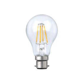 B22 LED Filament Globe - 8W 800lm IP20 6000K 105mm Clear Dimmable