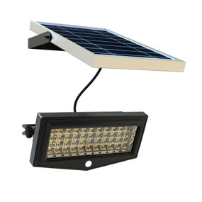 Solar Flood Light - Motion Sensor 10W 1000lm IP65 6W 3.5m Cable Commercial Grade