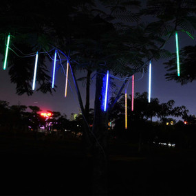 Solar Meteor Lights - 10 Multi Colour Bars for Spike or Wall