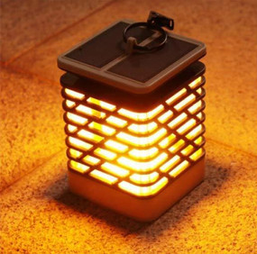 Solar Lantern Light - Flickering Flame, Includes Solar Panel