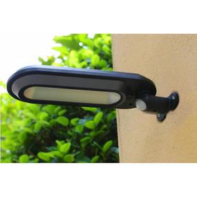 Solar Motion Sensor Wall Light - Adjustable IP65 4 Modes 400lm