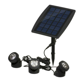 Solar Ground or Wall Spotlight Kit - 3 Lights IP68 RGB Adjustable