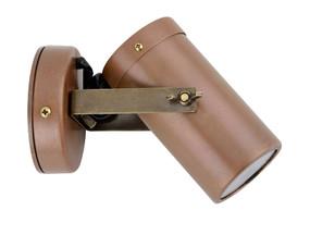 Wall Spotlight - Adjustable 12V 20W MR16 IP54 104mm Aged Copper