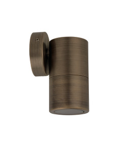 Outdoor Wall Light - 12V 20W MR16 IP65 125mm Antique Brass