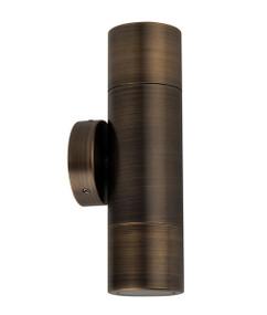 Up Down Light - 70W GU10 IP65 210mm Antique Brass