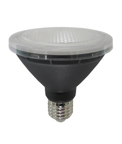PAR E27 LED Globe - 10W 800lm IP44 5000K 95mm Black