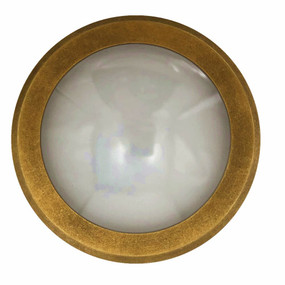 Wall Light - 240V 6W 600lm IP65 3000K 98mm Antique Brass