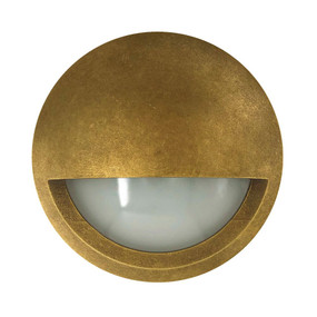 Wall Light - 12V 6W 480lm IP65 3000K 98mm Eyelid Antique Brass