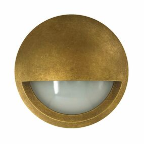 Wall Light - 240V 6W 480lm IP65 3000K 98mm Antique Brass