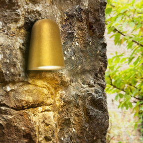 Outdoor Wall Light - 240V 35W GU10 135mm Antique Brass