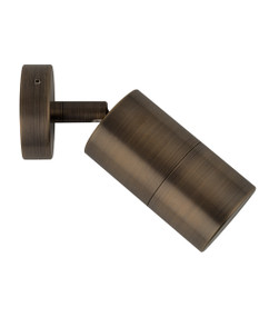 Wall Spotlight - Adjustable 35W GU10 IP65 110mm Antique Brass