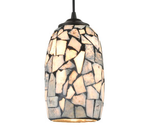 Pendant Light - Hand Blown 60W E27 252mm Dark Stone