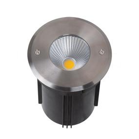 Marine Grade Inground Light - 24V 9W 675lm IP67 IK09 3000K 127mm Chrome