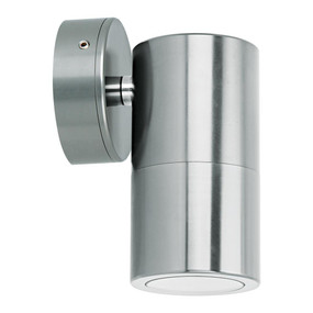 Marine Grade Wall Light - 240V 35W GU10 IP65 3000K 125mm Titanium Silver