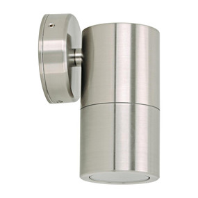 Marine Grade Wall Light - 240V 316 Stainess Steel 35W GU10 IP65 3000K 125mm