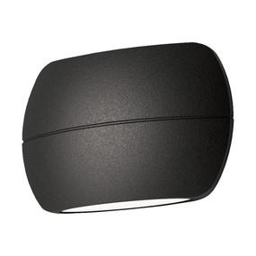 Up Down Light - Vandal Resistant 8W 300lm IP65 IK08 3000K 90mm Textured Black