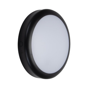 Marine Grade Vandal Resistant Wall or Ceiling Light - 25W 2320lm IP65 IK08 Tri Colour 300mm Round Black
