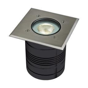 Marine Grade Inground Light - 24V 9W 900lm IP65 3000K 125mm Square Chrome